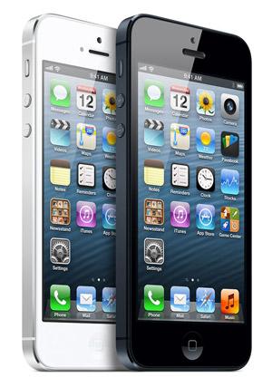 iPhone 5 verkrijgbaar in wit en zwart